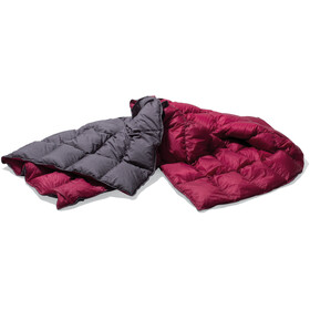 Yeti Duvet Packable Down Blanket 200x140cm, ash coal/garnet